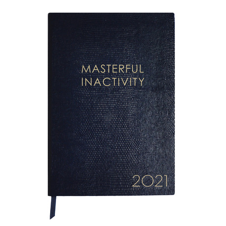 2021 Diary // Masterful Inactivity (A6 Book)