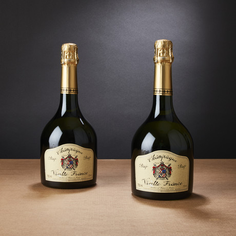 92 Point Champagne Vieille France Brut by Charles de Cazanove // Set of 2 // 750 ml Each