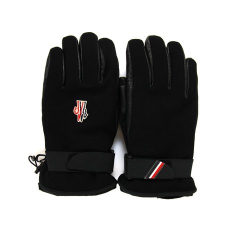 Moncler // Men's Logo Ski Gloves // Black (S)