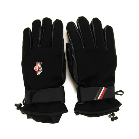 Moncler // Men's Logo Gloves // Black (S)