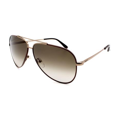 Men's SF131-211 Aviator Sunglasses // Brown + Gold