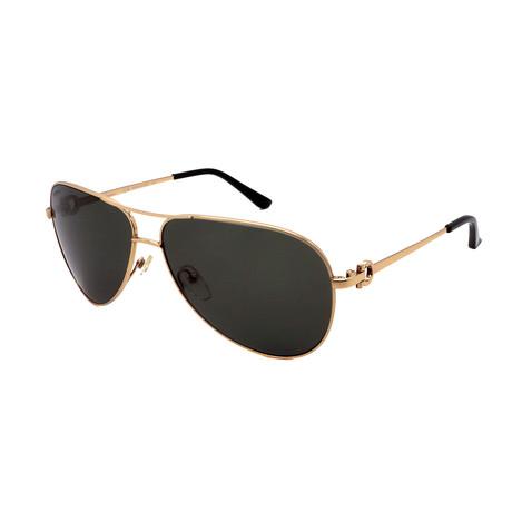 Men's SF167-756 Aviator Sunglasses // Gold + Black