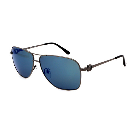 Men's SF170-033 Aviator Sunglasses // Gunmetal + Blue Mirror