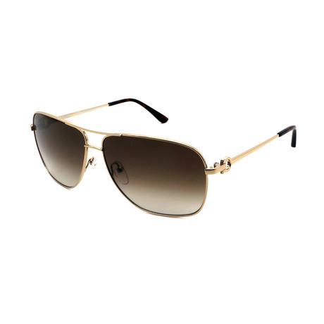 Men's SF170-718 Aviator Sunglasses // Gold + Brown Gradient