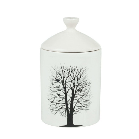 Winter Forest Tree Candle // White