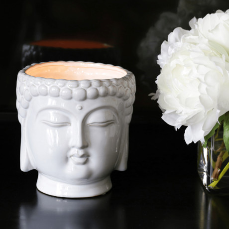 Buddha 3-Wick Scented Candle // White
