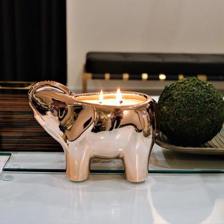Elephant Candle // Rose Gold