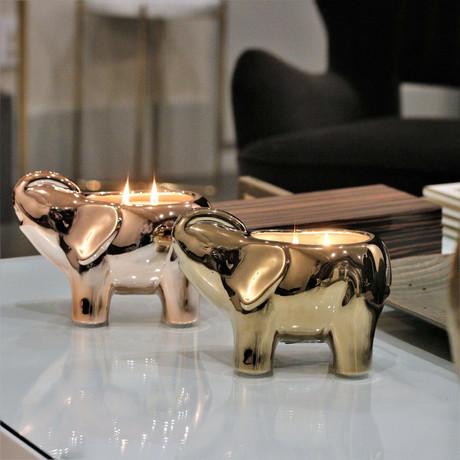 Elephant Candle // Gold