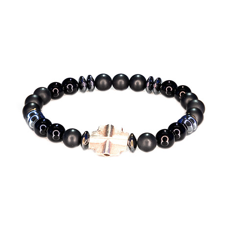 Dell Arte // Matte + Shiny Onyx Bracelet // Black