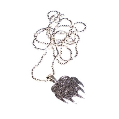 Dell Arte // Bear Claw Pendant + Chain // Silver
