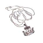 Dell Arte // Viking Ship Pendant + Chain // Silver
