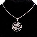 Dell Arte // Sri Yantra Pendant + Chain // Silver