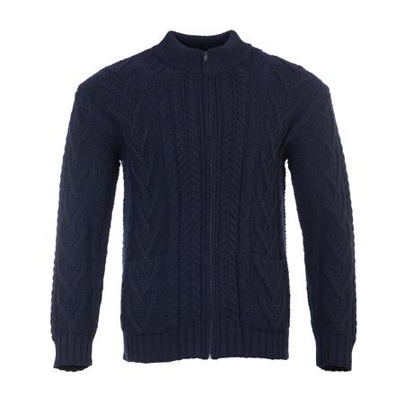 Zipper Cardigan // Navy (Small)