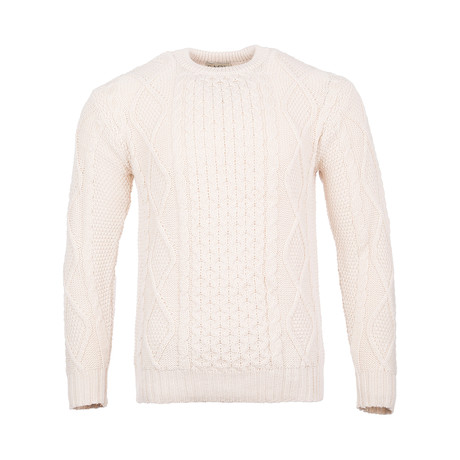 Crew Neck Sweater V.1 // Natural (Small)