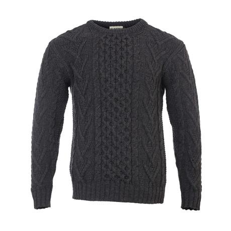 Merino Aran Sweater // Charcoal (Small)