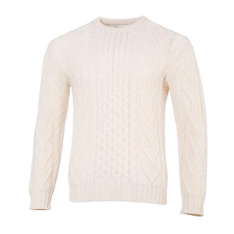 Merino Aran Sweater // Natural (Small)