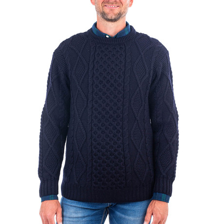 Crew Neck Sweater V.1 // Navy (Small)
