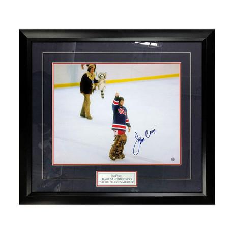 Jim Craig // Framed Autographed Photo Display