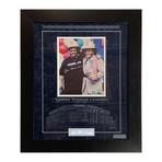 Joe Torre + Rudy Giuliani // Framed Autographed Photo Display