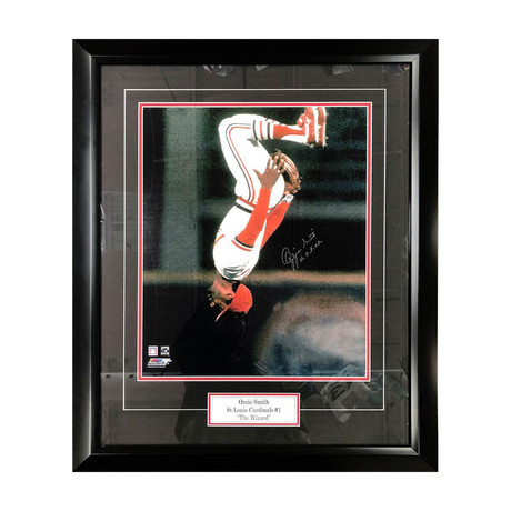 Ozzie Smith // Framed Autographed Photo Display