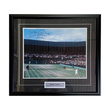 Jimmy Connors // Framed Autographed Photo Display