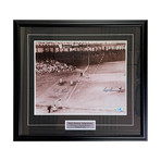Ralph Branca + Bobby Thomson // Framed Autographed Photo Display