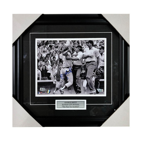 George Brett // Framed Autographed Photo Display