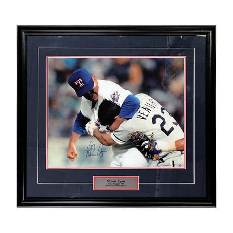Nolan Ryan + Robin Ventura // Framed Autographed Photo Display