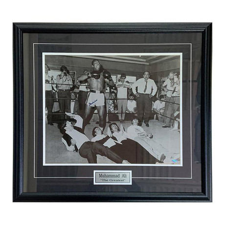 Muhammad Ali w/ The Beatles // Framed Autographed Photo Display