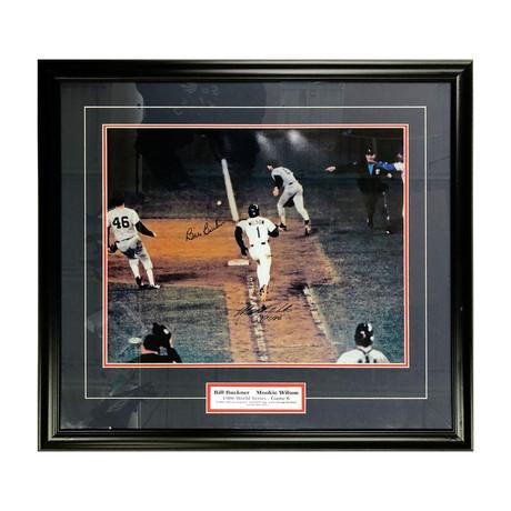 Mookie Wilson + Bill Buckner // Framed Autographed Photo Display