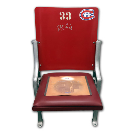 Montreal Canadiens Forum Seat // Signed by Patrick Roy