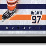Connor McDavid // Skating Action Shot // Framed Canvas Facsimile Autograph