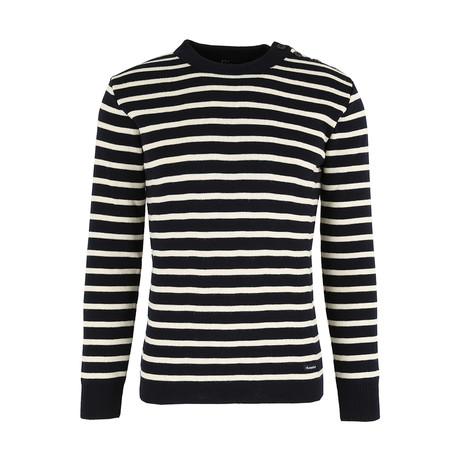Heritage Fisherman Sweater // Rich Navy + White (S)