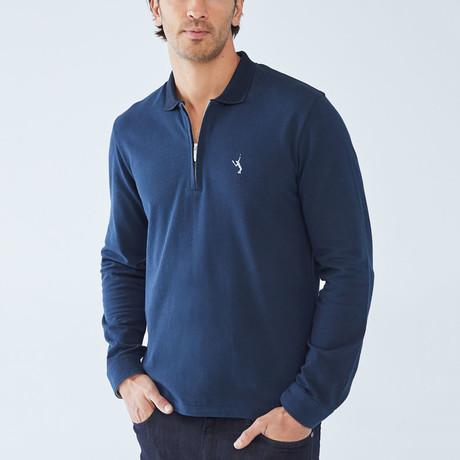 Baron Long-Sleeve Polo // Navy (S)