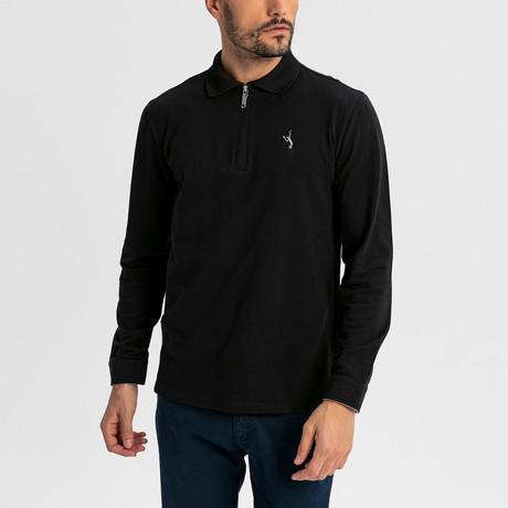 Baron Long-Sleeve Polo // Black (S)