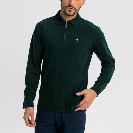 Baron Long-Sleeve Polo // Green (S)