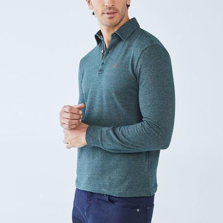 Cesar Long-Sleeve Polo // Green (S)