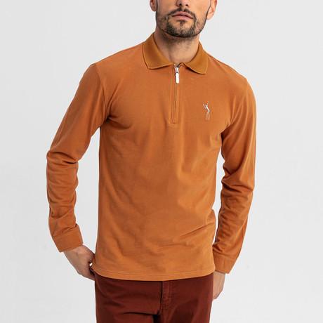 Baron Long-Sleeve Polo // Camel (S)