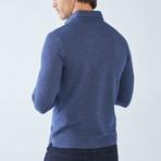 Boris Becker // Cesar Long Sleeve Polo // Indigo (Small)