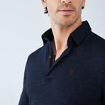 Boris Becker // Cesar Long Sleeve Polo // Navy (X-Large)