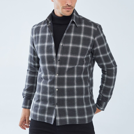 Vitali Checkered Shirt // Gray (S)