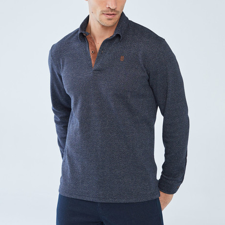 Change Long-Sleeve Polo // Navy (S)