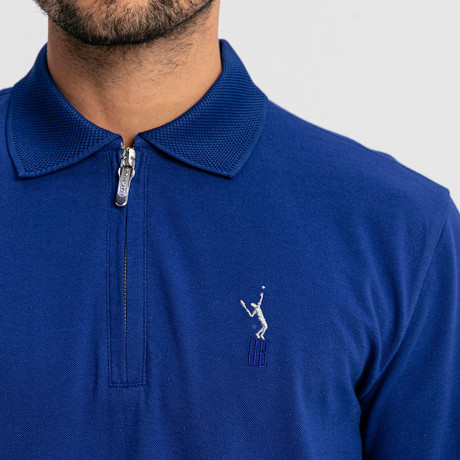 Baron Long-Sleeve Polo // Sax (S)