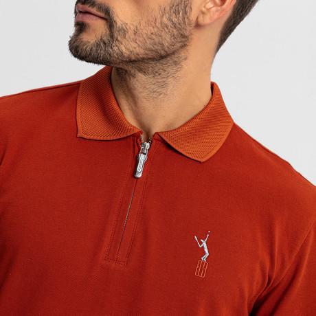 Baron Long-Sleeve Polo // Tile (S)