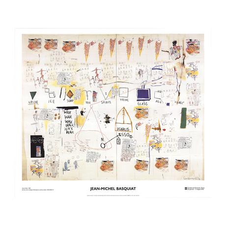 Jean-Michel Basquiat // Icarus Esso // 2002 Offset Lithograph