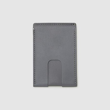 Card Wallet with Cash Pocket // Non-RFID Blocking (Black)