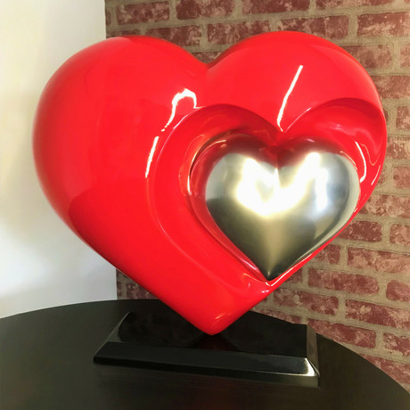 Heart // Red + Chrome