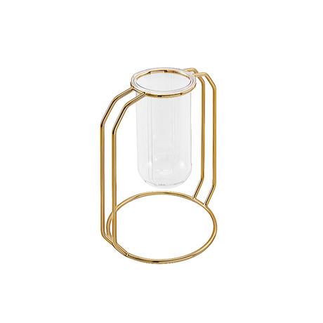 Glass Flower Vase // Gold (Small)