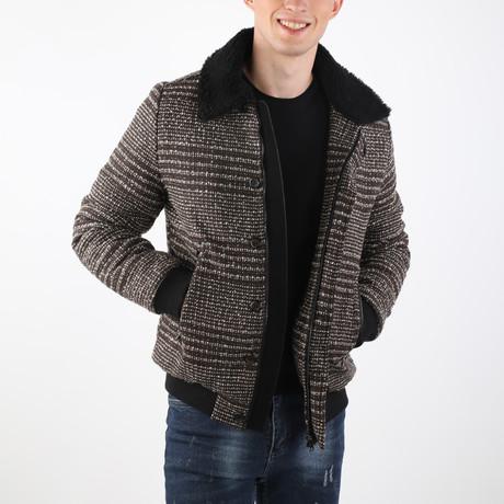 Sedona Coat // Brown + Ecru (S)