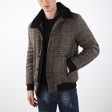 Everest Coat // Brown + Beige (S)